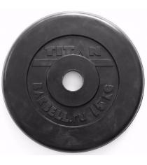 Обрезиненный диск Titan d 51 мм черный 15 кг TP51-15