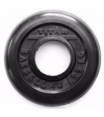 Обрезиненный диск Titan d 51 мм черный 1.25 кг TP51-1.25