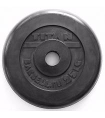 Обрезиненный диск Titan d 51 мм черный 25 кг TP51-25