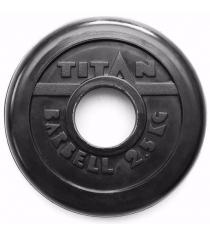 Обрезиненный диск Titan d 51 мм черный 2.5 кг TP51-2.5