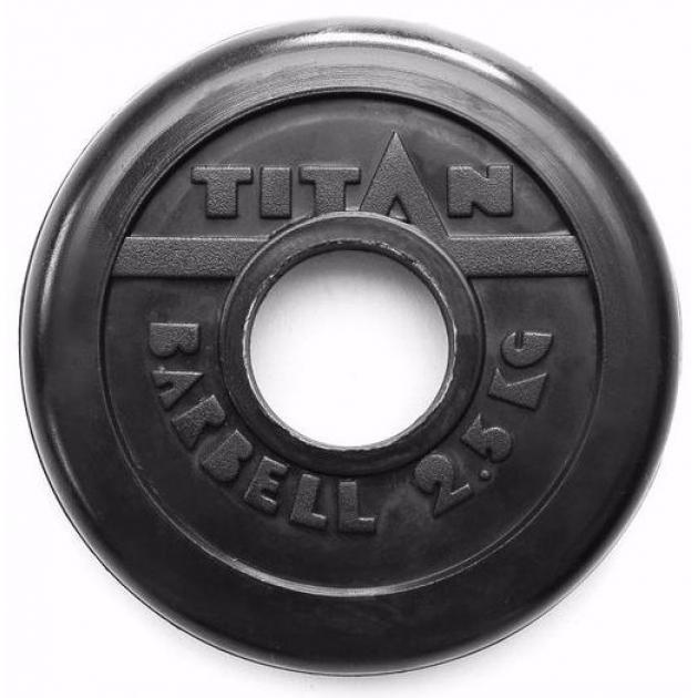 Обрезиненный диск Titan d 51 мм черный 2.5 кг