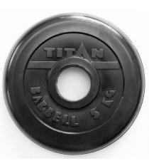 Обрезиненный диск Titan d 51 мм черный 5 кг TP51-5