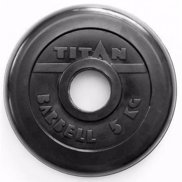 Обрезиненный диск Titan d 51 мм черный 5 кг