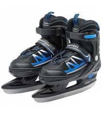 Прогулочные коньки размер 33 36 сине черные X Match 64598