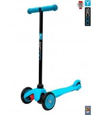 Самокат Y-scoo mini a 5 simple blue с цветными колесами 4518...