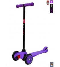 Самокат Y-scoo mini a 5 simple purple с цветными колесами 4519...