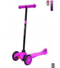 Самокат Y-scoo mini a 5 simple pink с цветными колесами 4521...