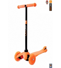 Самокат Y-scoo mini a 5 shine orange со светящими колесами 4523...