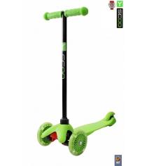 Самокат Y-scoo mini a 5 shine green со светящими колесами 4525...