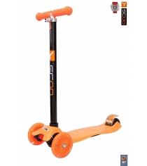 Самокат Y-scoo maxi a 20 shine orange со светящими колесами 4530...