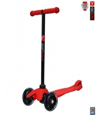 Самокат Y-scoo mini a 5 shine red со светящими колесами 4897...