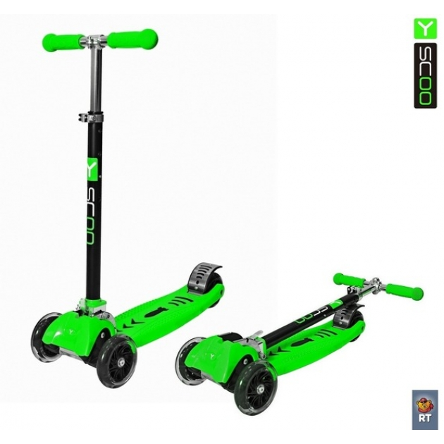 Самокат Y-scoo maxi city rt simple gagarin трансформер green 4954