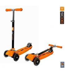 Самокат Y-scoo maxi city rt simple gagarin трансформер orange 4956...
