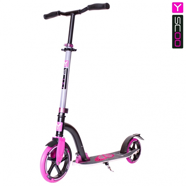 Самокат Y-scoo rt 230 slicker family design butterfly pink 5753