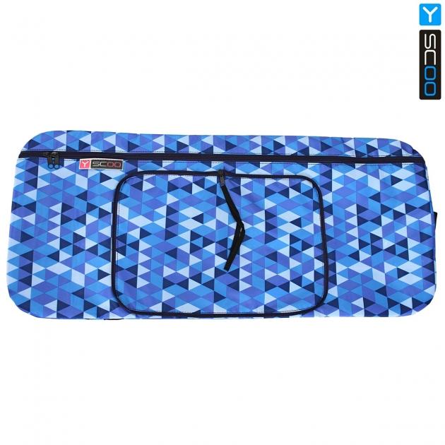 Чехол портмоне складной для самоката Y scoo 145 ромбы голубые 5770
