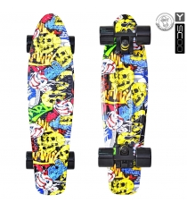 Скейтборд Y-scoo fishskateboard print 22 винил 56 6х15 cartoon 401g с 5814