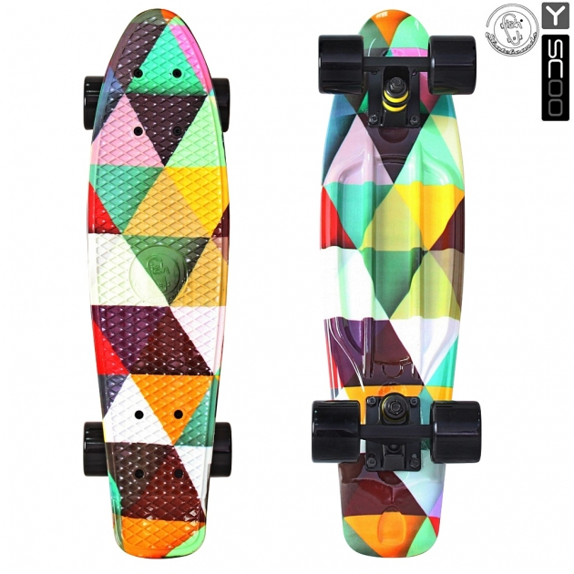 Скейтборд Y-scoo fishskateboard print 22 винил 56 6х15 triddent 401g t 5815