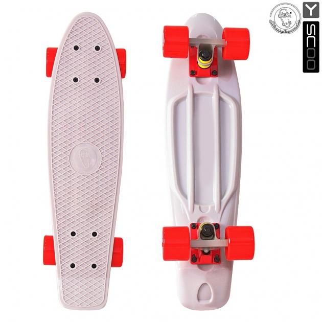 Скейтборд Y-scoo fishskateboard 22 винил 56 6х15 grey/red 401 g 5816