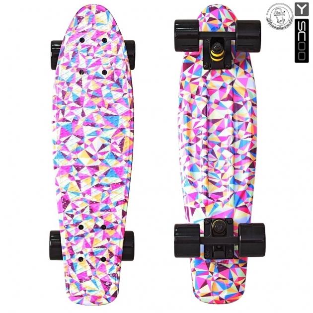 Скейтборд Y-scoo fishskateboard print 22 винил 56 6х15 rhombus 401g r 5818