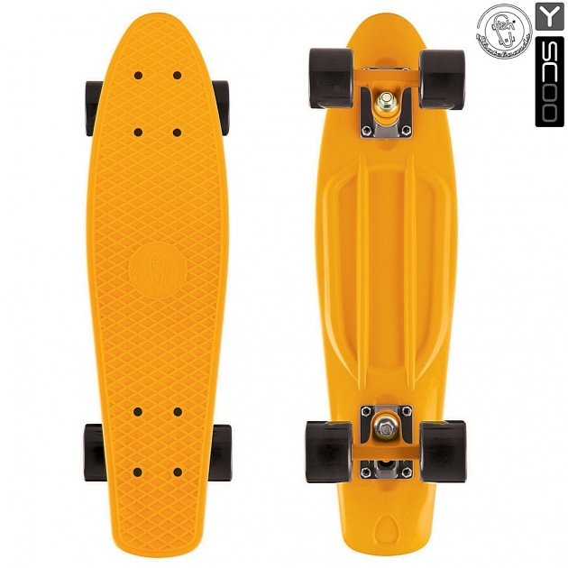Скейтборд Y-scoo fishskateboard 22 винил 56 6х15 orange/black 401 o 5820