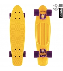 Скейтборд Y-scoo big fishskateboard 27 винил 68 6х19 yellow/dark purple 402 y 5925