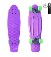 Скейтборд Y-scoo big fishskateboard 27 винил 68 6х19 purple/green 402 pr 5927