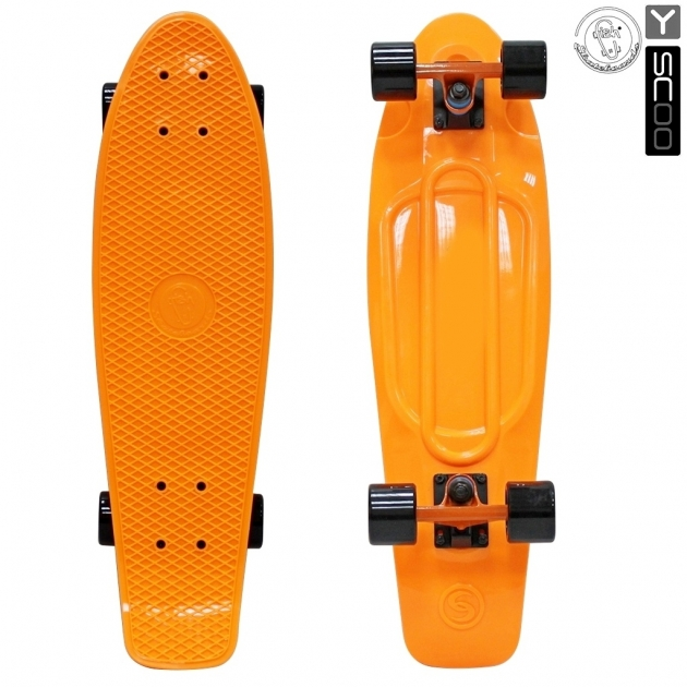 Скейтборд Y-scoo big fishskateboard 27 винил 68 6х19 orange/black 402 o 5928