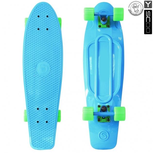 Скейтборд Y-scoo big fishskateboard 27 винил 68 6х19 blue/green 402 b 5931