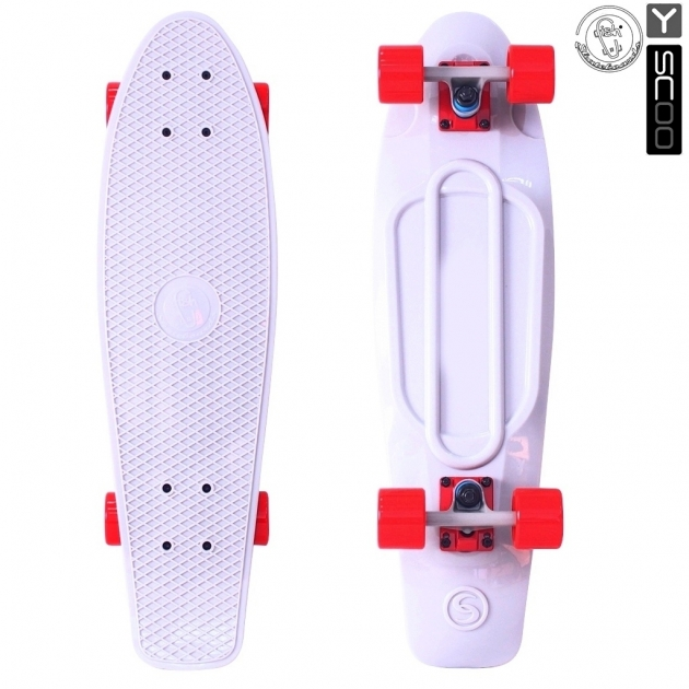 Скейтборд Y-scoo big fishskateboard 27 винил 68 6х19 white/red 402 w 5932