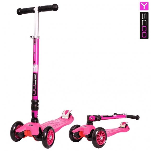 Самокат Y scoo 35 maxi fix simple pink 6492