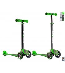 Самокат Y-scoo rt globber my free titanium neon green 4848