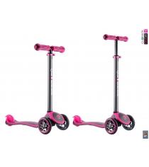 Самокат Y-scoo rt globber my free titanium neon pink 4849