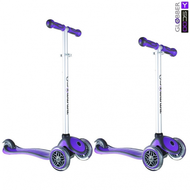 Самокат Y-scoo rt globber my free new technology purple 5946