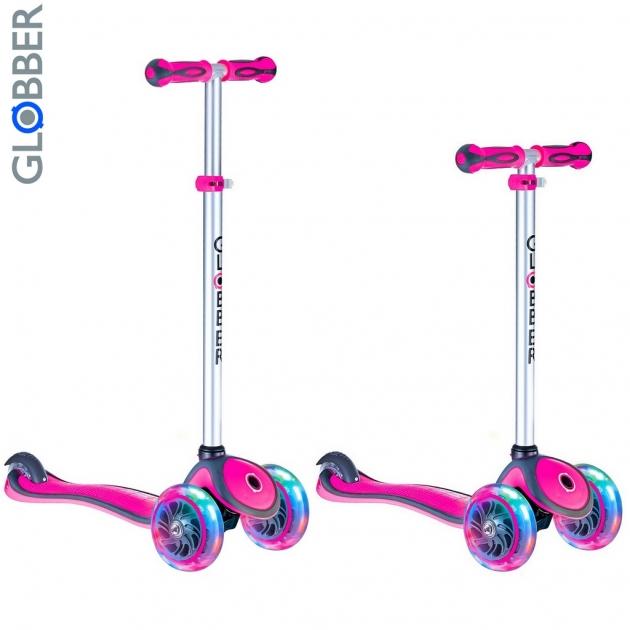 Самокат Y-scoo globber primo plus pink 442 110 6478