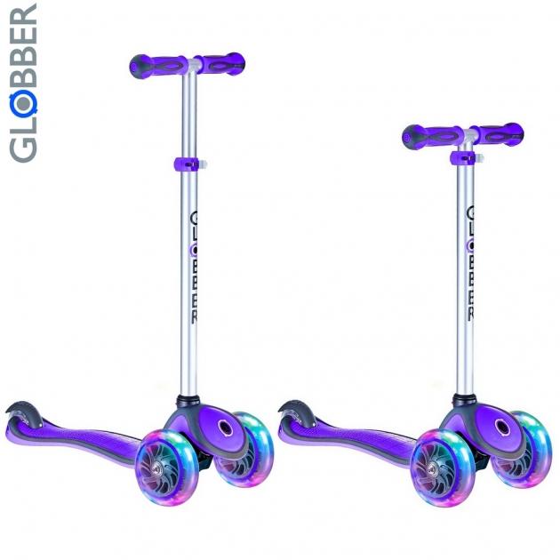 Самокат Y-scoo globber primo plus purple 442 103 6485
