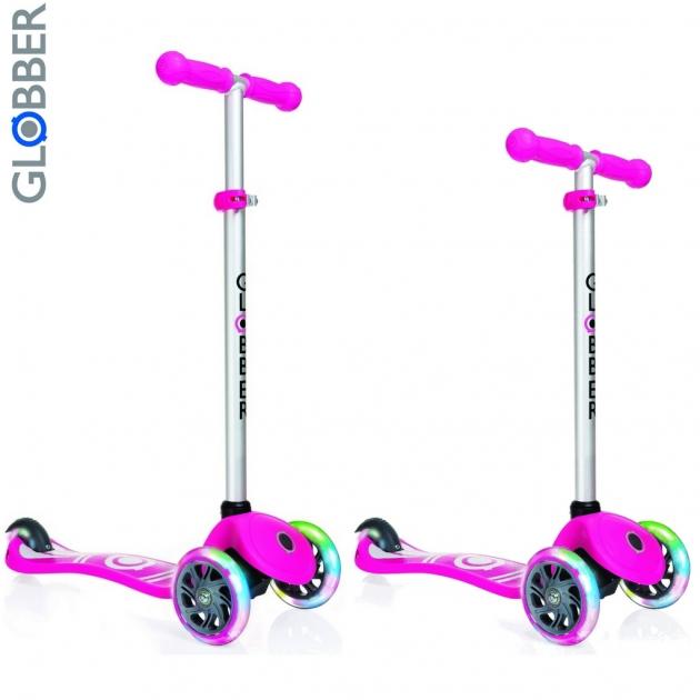 Самокат Y-scoo globber primo fantasy logo neon pink 424 013 6554