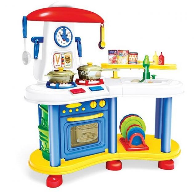 Игровой набор кухня как у мамы свет звук разноцветная