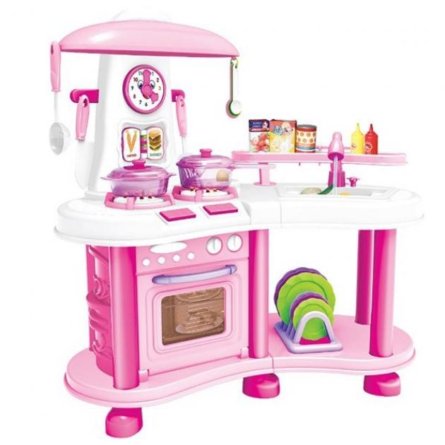 Игровой набор кухня как у мамы свет звук розовая