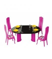 Кукольная мебель для столовой зефир Огонек 1466