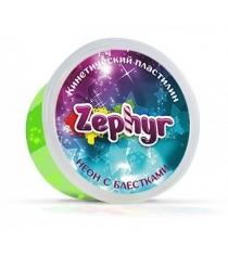 Масса для лепки зелёная неоновая с блёстками Zephyr 00-00000865...