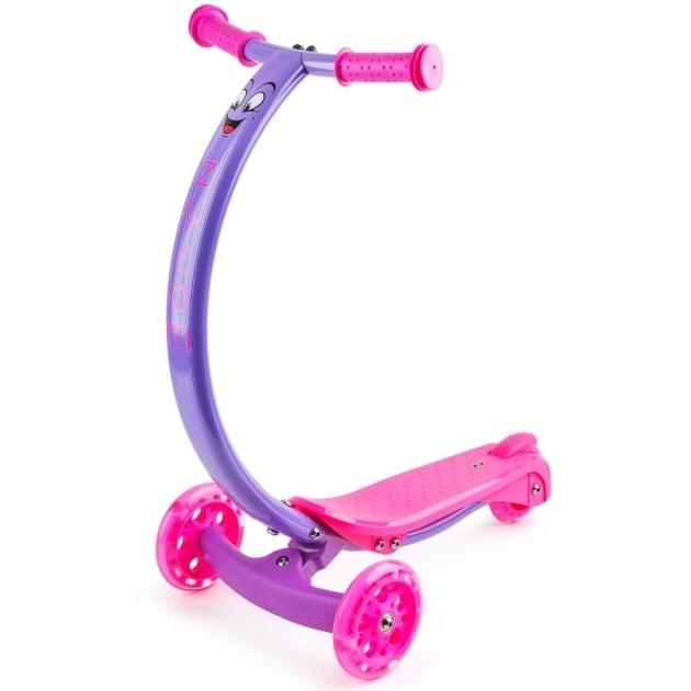 Самокат со светящимися колесами Zycom zipster розово фиолетовый