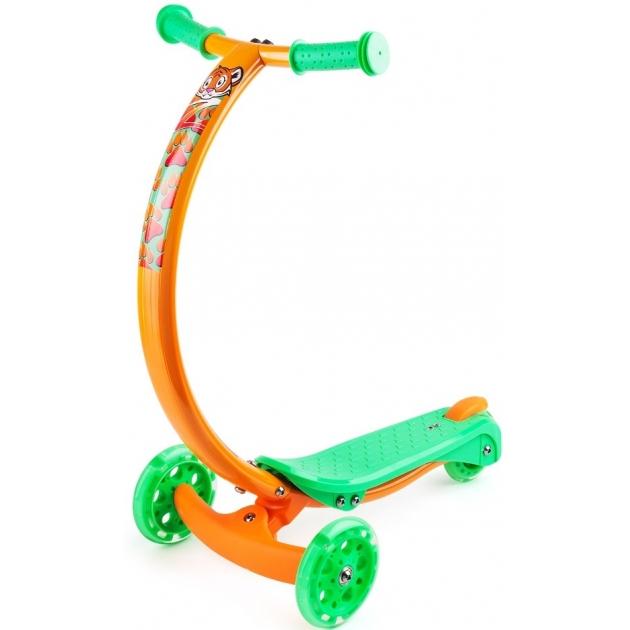 Самокат со светящимися колесами Zycom zipster оранжевый