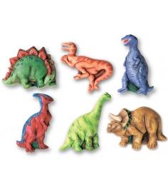 Фигурки на магнитах из формочки 4M Динозавры 00-03514...
