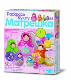 Набор для творчества 4M Раскрась куклу Матрешка 00...