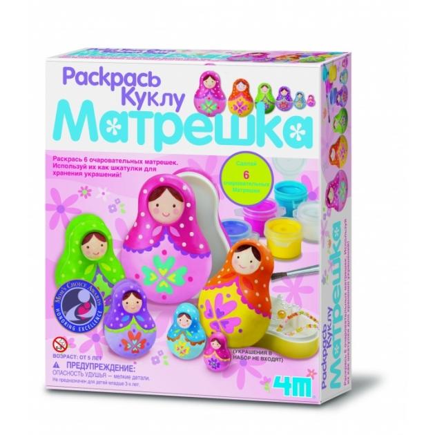 Набор для творчества 4M Раскрась куклу Матрешка 00_04617