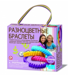 Набор для творчества 4M Разноцветные браслеты 00-0...