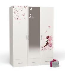 Детский трехстворчатый шкаф Advesta Swarovski Fairy