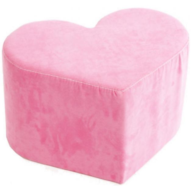 Детский пуфик Advesta Сердце велюровый нежного розового цвета