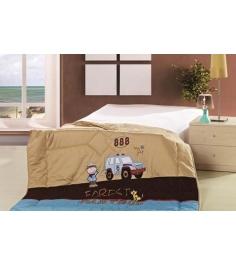 Детское одеяло Advesta Partrol стеганое с вышивкой 155х215 см...