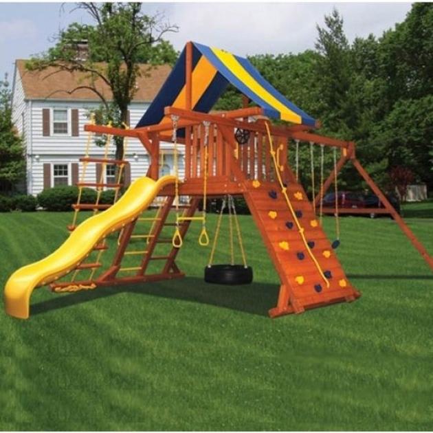 Детские площадки из дерева Американские игровые системы зарница